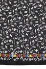 Moschino Silk shawl with logo