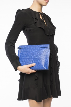 Clutch with embossed logo od Loewe