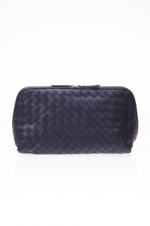 Leather cosmetic bag od Bottega Veneta