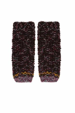 Woven fingerless gloves od Etro