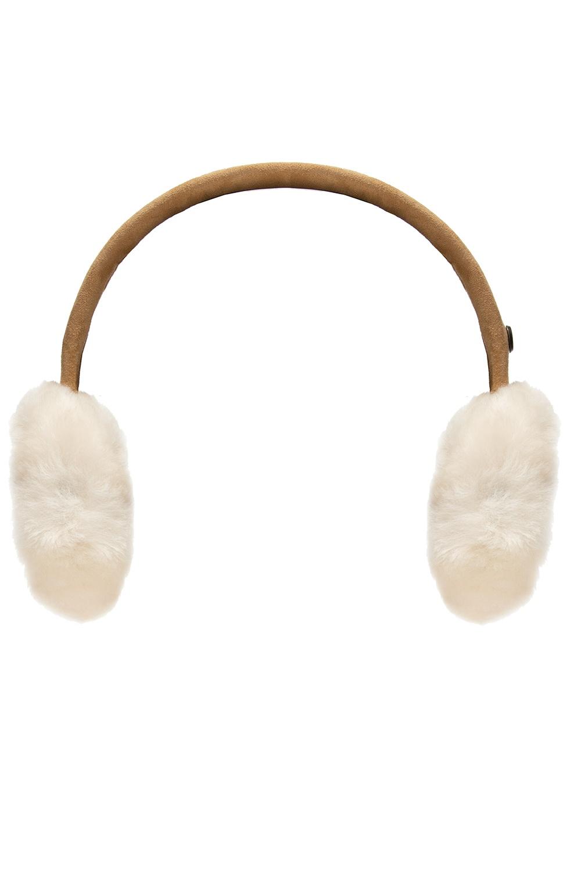 UGG Kids Suede earmuffs with wool trim