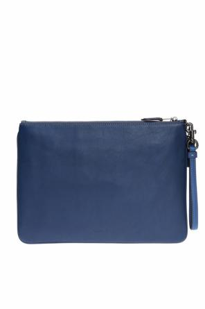 Logo-embossed clutch od Coach
