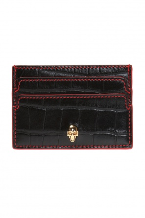 Card case with metal skull od Alexander McQueen