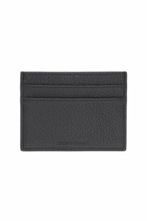 Logo-embossed card case od Dior