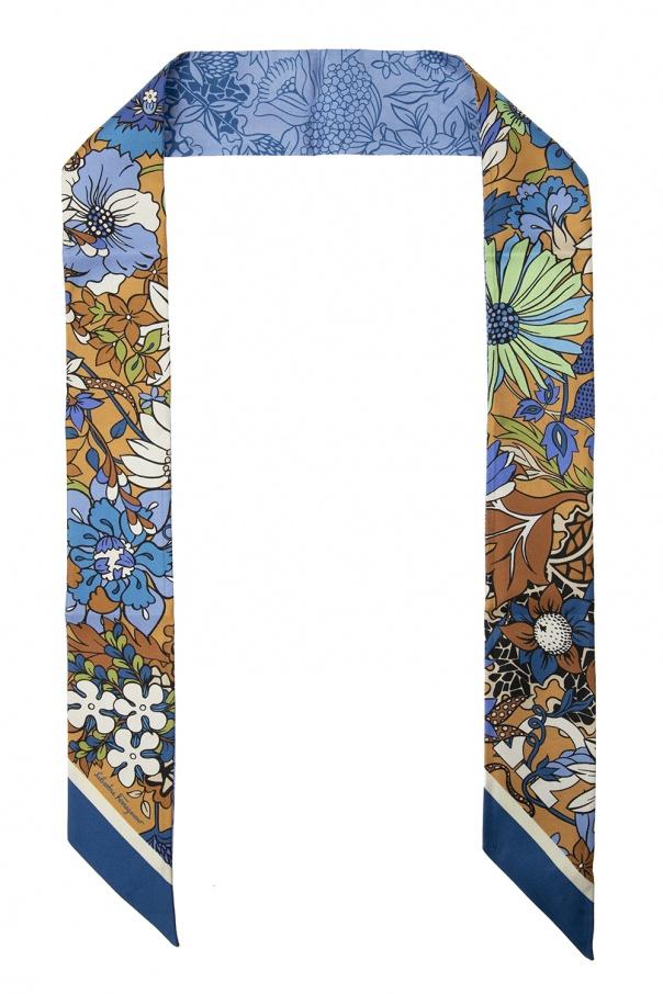 Salvatore Ferragamo Floral-printed scarf