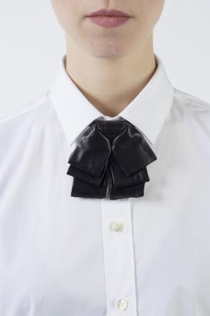 Leather neck bow od Saint Laurent