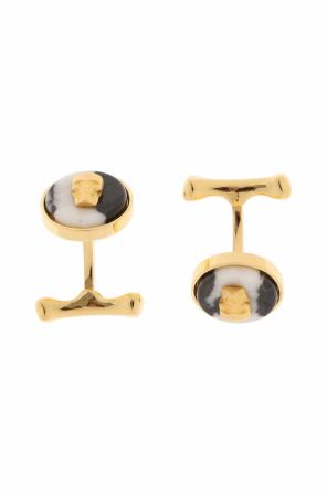 Brass cuff links od Alexander McQueen