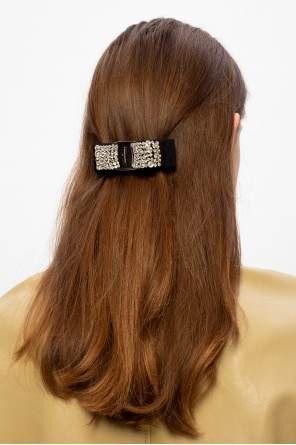 Logo hair clip od Salvatore Ferragamo