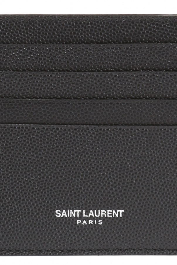 Skórzane etui na karty od Saint Laurent Paris