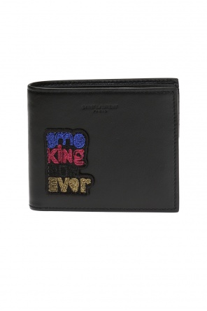 Appliquéd wallet od Saint Laurent