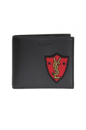 Logo-patched bi-fold wallet od Saint Laurent Paris