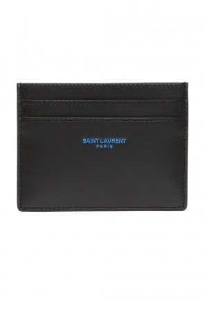Logo-embossed card case od Saint Laurent