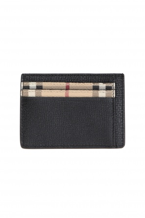 Logo-embossed card case od Burberry