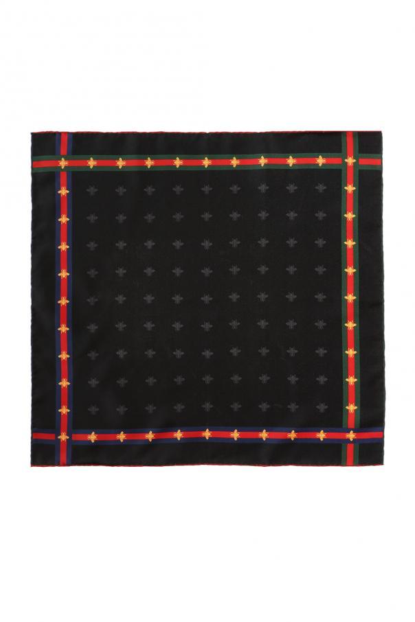 Gucci Bee-printed pocket square