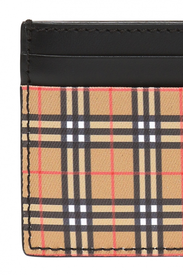 Card case with a plaid pattern od Burberry