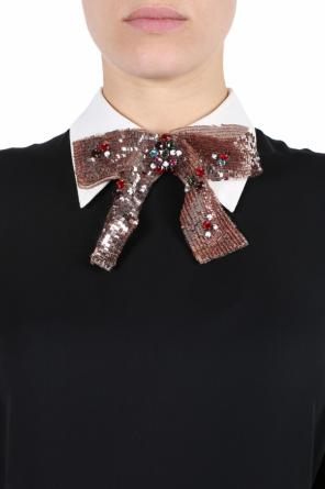 Embellished bow tie od Gucci