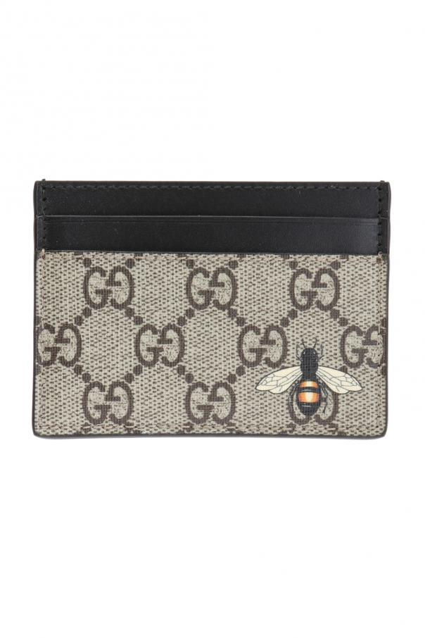 Gucci Bee motif card case