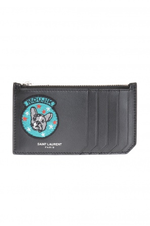 Patched card case od Saint Laurent