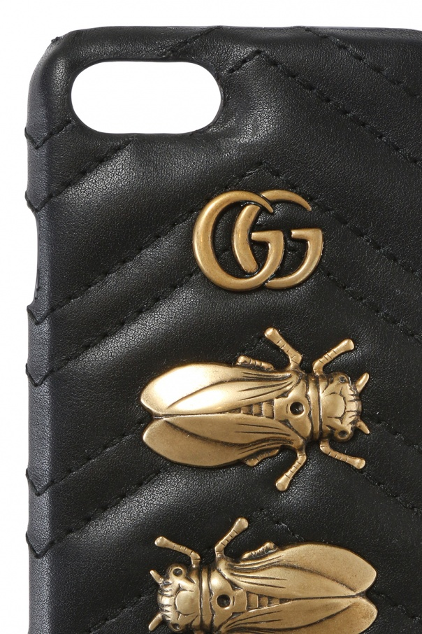 Appliqued iphone 7 case od Gucci