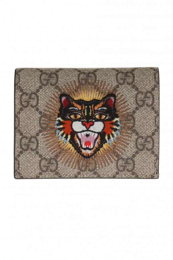 55ac8d5f3a77d4 Embroidered wallet Gucci - Vitkac shop online