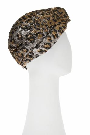 Leopard print head band od Gucci
