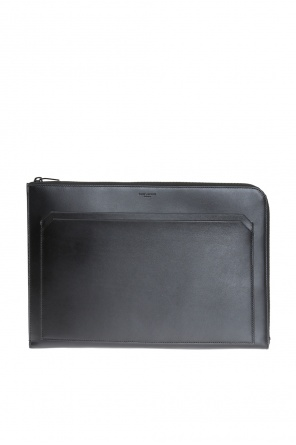 Logo-embossed clutch od Saint Laurent