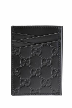 Logo-embossed card case od Gucci