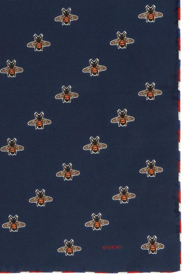 Bee motif pocket square od Gucci