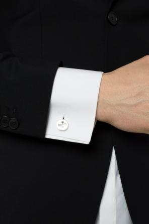 'g' silver cuff links od Gucci