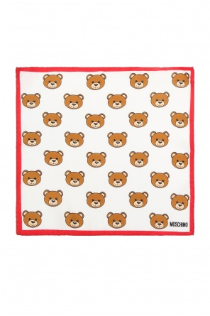 Teddy bear motif pocket square od Moschino