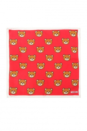 Teddy bear-branded pocket square od Moschino