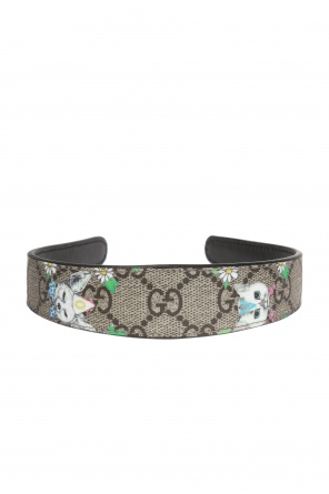 'gg supreme' canvas head band od Gucci Kids