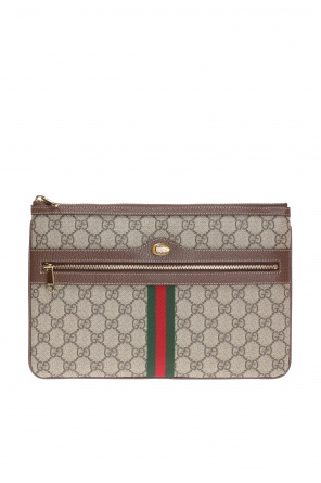 'ophidia' clutch with 'web' strap od Gucci