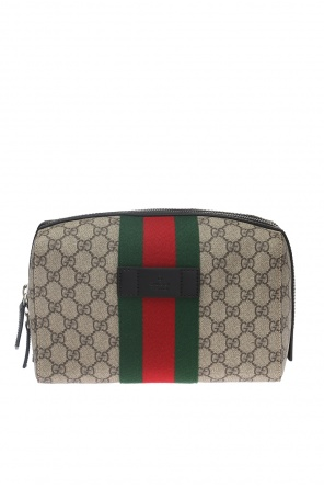 Make-up bag with a 'web' stripe od Gucci
