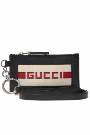 Logo-embroidered card case od Gucci
