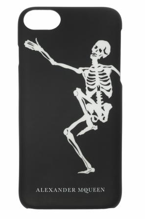 Skeleton motif iphone 8 case od Alexander McQueen