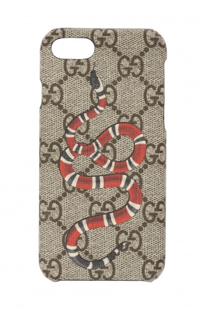 Iphone 8 case with a snake motif od Gucci