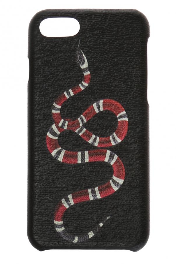 buy popular 4f3a3 597ad iPhone 8 case with snake motif Gucci - Vitkac shop online