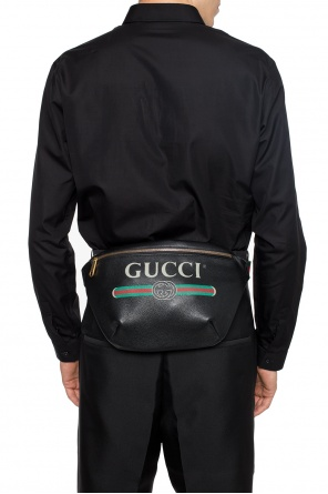 Waist bag with a logo and 'web' stripes od Gucci