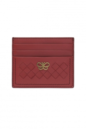 Butterfly motif card case od Bottega Veneta