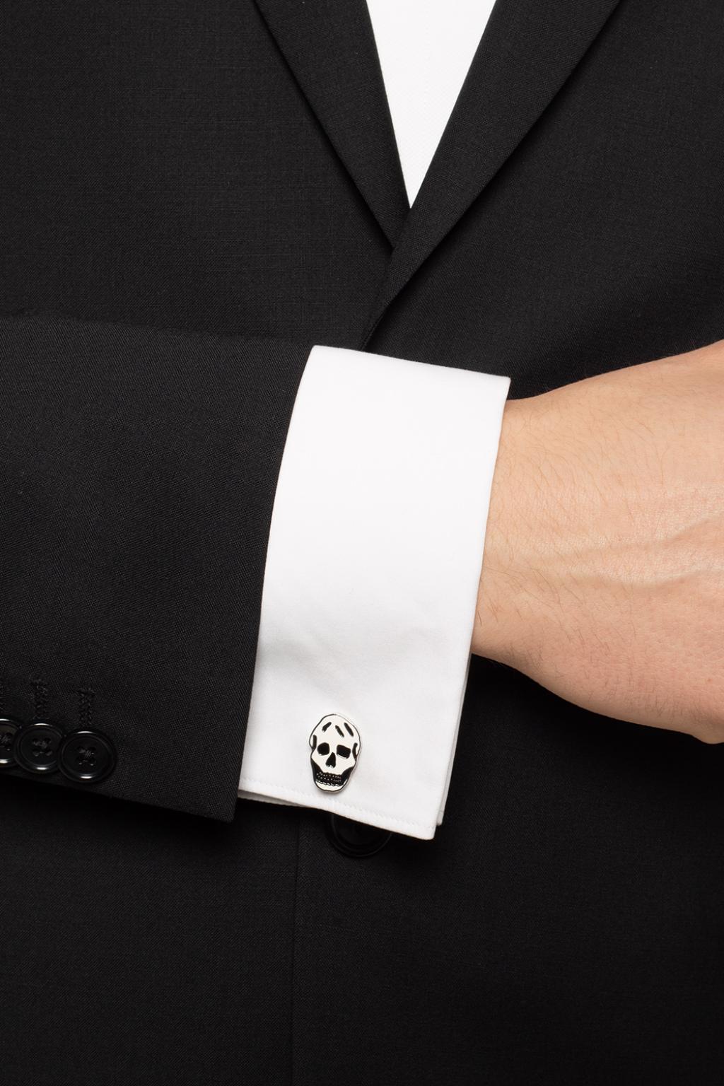 Alexander McQueen Skull motif cufflinks