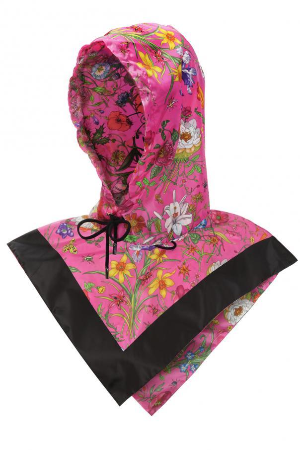 Gucci Floral motif hood