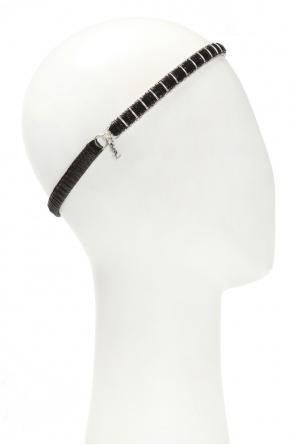 6439a181dcc Headband with logo charm od Saint Laurent ...