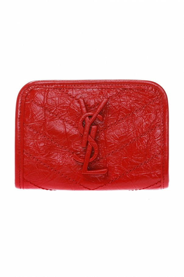 Quilted wallet with logo od Saint Laurent
