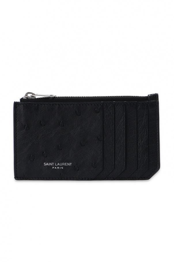 Saint Laurent Card case from ostrich skin