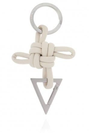 Logo-embossed keyring od Bottega Veneta
