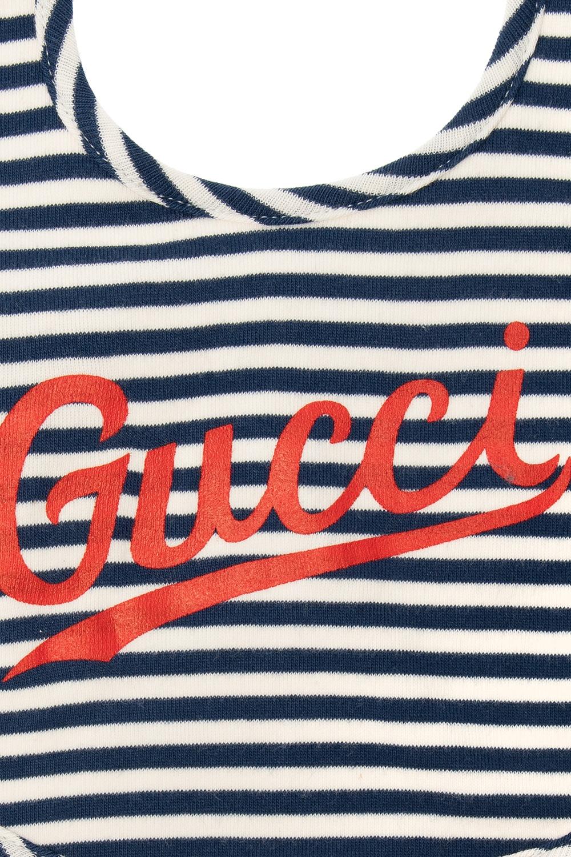 Gucci Kids Patterned bib with logo