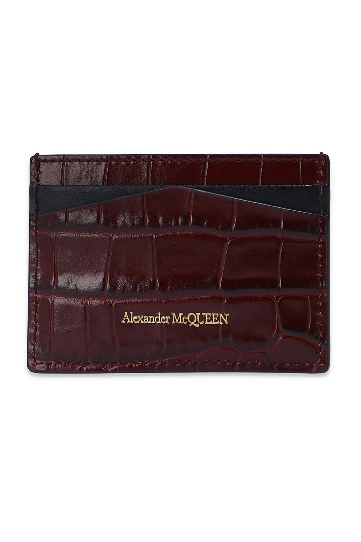 Alexander McQueen Card case with logo