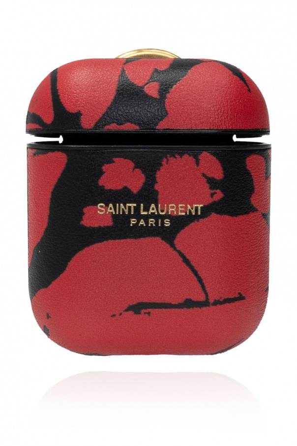 Saint Laurent AirPods case with logo