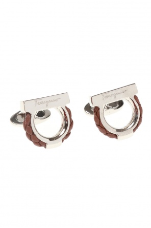 Logo-embossed cufflinks od Salvatore Ferragamo